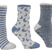 Women's Essential Oil Infused 3 Pack Warm & Cozy Slipper Sock Aromatherapy Gift Box Set