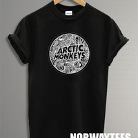 New Arctic Monkeys Shirt Art Symbol Printed on Balck t-Shirt For Men or Women Size TS 69