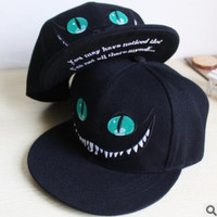 Chelshire Cat Alice in Wonderland Closeup Grinn Baseballl Hip hop Fashion Cap Hat