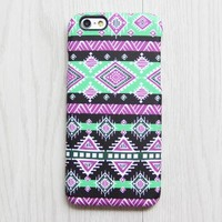 Pink Green Ethnic iPhone XR 6 iPhone XS Max plus Case Ethnic iPhone 8 SE iPhone 4 Case Tribal Samsung Galaxy S8 S6  Case 075