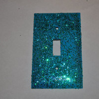 Mermaid Scales Single Glitter Switch Plate