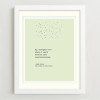 Typographic Print - John Green - The Fault In Our Stars - Typography Poster