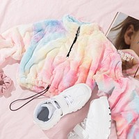 Autumn And Winter New Fashion Multicolor Loose Long Sleeve Top Sweater