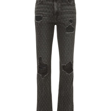 Cult Net Distressed Grey Jeans