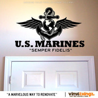 Wall Decals Marines Armed Forces United States Eagle Vinyl Art Decal Sticker