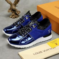 LV Louis Vuitton Fashion Men Casual Sport Shoes Sneakers Blue