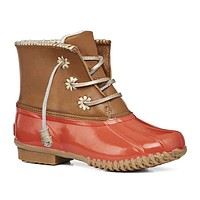 Chloe Classic Duck Boot in Fire Coral by Jack Rogers