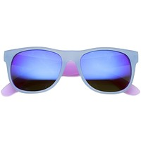 Retro Festival Summer Horned Rim Mirror Lens Sunglasses 9585