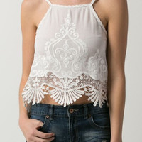 Rodeo Crinkle Embroidered Tank Top