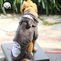 Bruce&Williams Four Legs Totoro Turned Big Large Plus Dog Clothes Coat Winter Jacket Hoody Clothing For Puppy Mascotas DC192