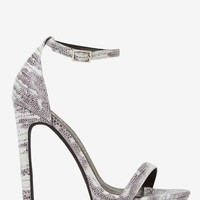 Jeffrey Campbell Finola Leather Python Heel - Gray