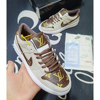 Nike new SbDank series low-top sneakers (leather) non-slip fashion trend casual breeze all-match sports shoes