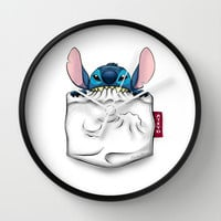 imPortable Stitch... Wall Clock by Emiliano Morciano (Ateyo)