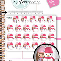 Snowman Stickers Winter Stickers Snow Stickers Planner Stickers Erin Condren Stickers Functional Stickers Cute Stickers Kawaii Stickers 1353