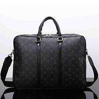 Louis Vuitton LV Woman Men Leather Satchel Shoulder Bag Crossbody