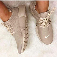 Tagre™ NIKE Air Presto White Small Hook NIKE Air Presto Khaki Fashion Women/Men Running Sport Casual Cushion Shoes Sneakers Nude