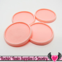 Light Pink 1 inch Round Cameo Settings 25mm Resin Bezel 10 pieces