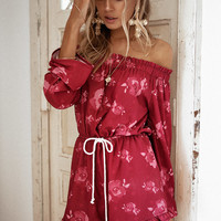 Rose Abrielle Playsuit - Playsuits by Sabo Skirt