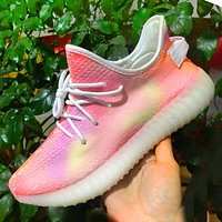 ADIDAS YEEZY 350 New Style Sneakers Tie-dye Pink Shoes