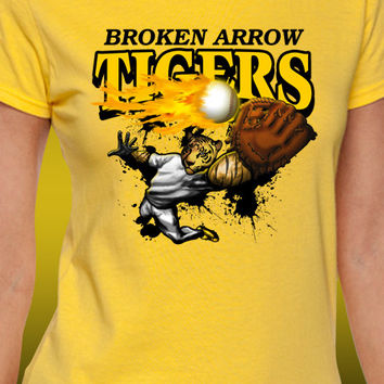 Broken Arrow Tigers Baseball T-Shirt