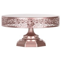 12 Inch Round Metal Wedding Cake Stand (Rose Gold)