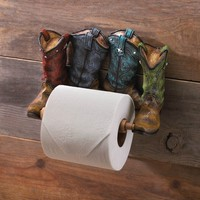 Cowboy Boots Toilet Paper Holder Bathroom Accessory