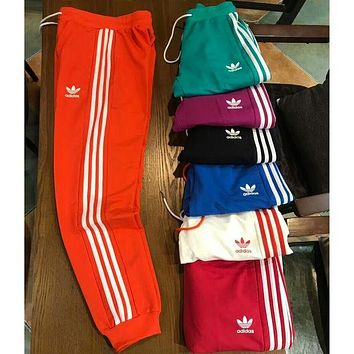 ADIDAS clover spring and summer lovers all-match sports pants for men and women