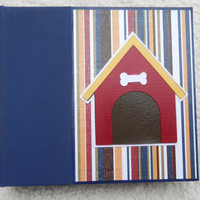 6x6 Dog Scrapbook Album with Doghouse