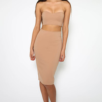 Walk On By Skirt - Nude