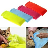Candy colors Multifunctional cat Grooming bag cat bags bath bags fitted mesh bag cat clean pet supplies on sale