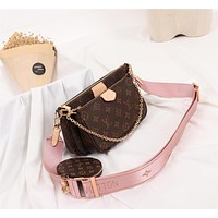 Fashion LV Louis Vuitton M44823 Women Leather monnogam Handbag Crossbody bags Shouldbag Bumbag 24cm