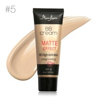Matte BB Cream Natural Long Lastin Face Makeup Concealer Whitening Moisturizer Oil-Control Waterproof Liquid Foundation 6 Color