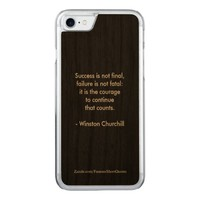 Winston Churchill Quote; Success Carved iPhone 8/7 Case