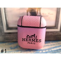Hermes new tide brand female airpods 2 wireless Bluetooth headset cover  #1
