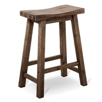 "Napa Distressed 24"" Counter Stool - Gray"
