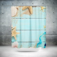 Nautical Bathroom Theme Shower Curtain