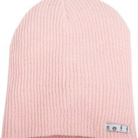 neff Men's Daily Beanie, Light Pink, One Size