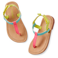 Carter's Bright T-Strap Sandals