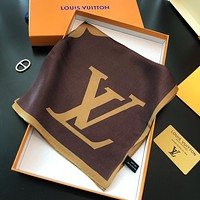 Louis Vuitton LV new women's stitching color jacquard wild scarf