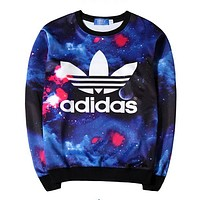 Adidas Women Fashion Top Sweater Pullover Sweatshirt-3