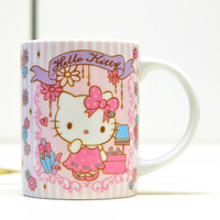 Hello Kitty Holiday Collection Girly Flower Ceramic Mug