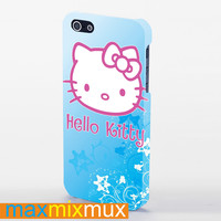 Hello Kitty Blue iPhone 4/4S, 5/5S, 5C Series Full Wrap Case