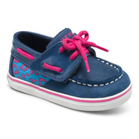 Navy & Turquoise Intrepid Jr. Leather Crib Boat Shoe   Something special every day