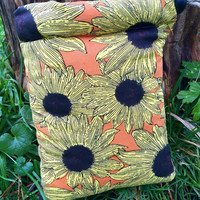 Sunflower Padded Pipe Pouch - Pipe Bag Handmade in USA by FlabbaGlass Designs