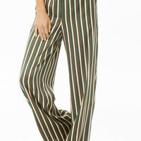 Striped Palazzo Satin Pants