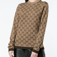 Gucci GG Long Sleeve Pullover Knit Sweater