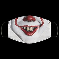 Pennywise Clown v1 IT Movie Face Mask Scary Adult Face Covering