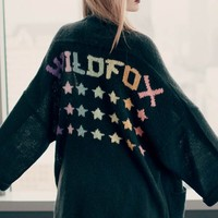 Wildfox Couture Stars Slouch Cardigan in Dirty Black