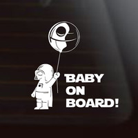 Baby On Board,Star Wars Car Decal, Darth Vader, Star Wars Decal, Star Wars Car Decal, Star Wars Sticker,