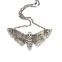 Death Moth Pendant | The Wildness Jewellery | Wolf & Badger